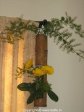 Bamboo Flower Arrangement