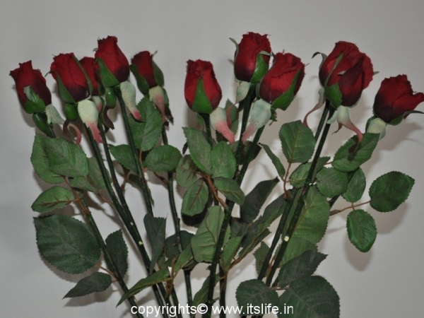 Artificial Rose Buds Arrangement