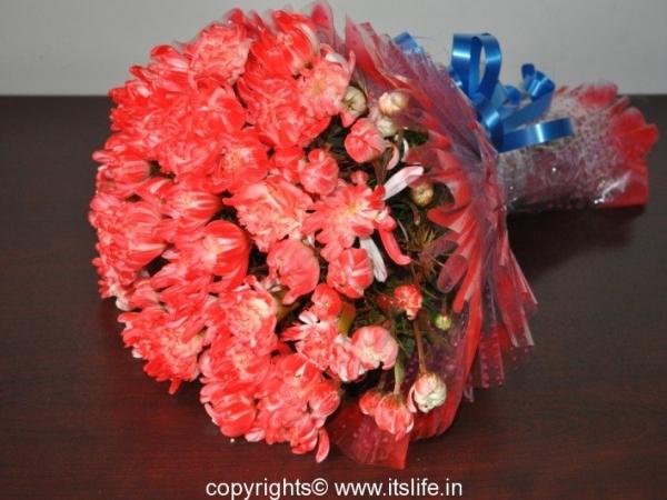 Chrysanthemum and Carnation bouquet