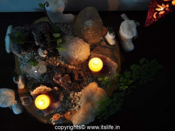 Geode Christmas Arrangement