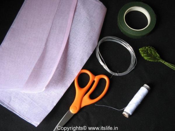Organdi cloth Rose Making