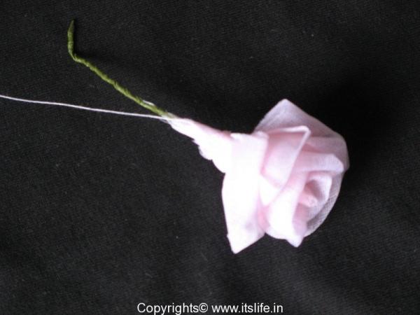 Organdi Rose Making
