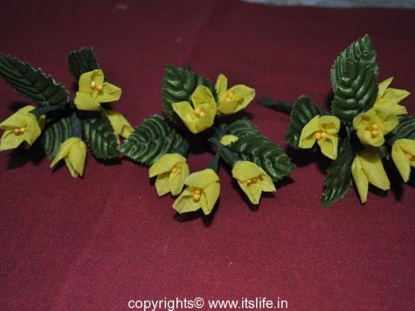 Three Petal Organdy Flowers