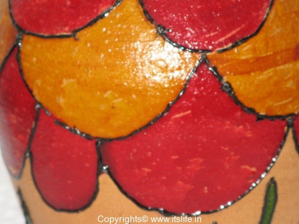 Pot Painting using Glass Paint