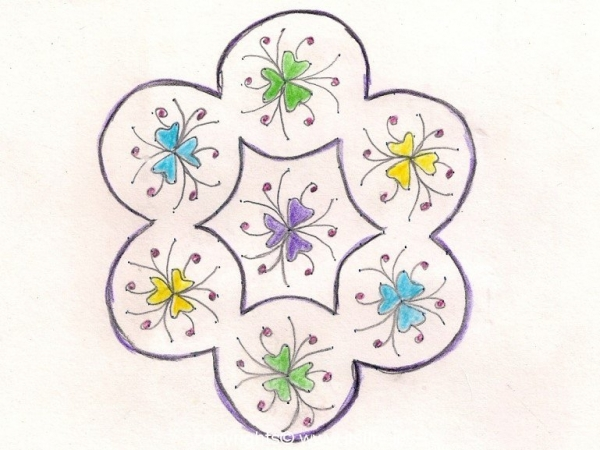 Flower Bunch Rangoli