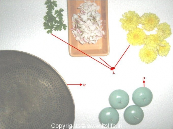Materials for Floating Candle arrangement