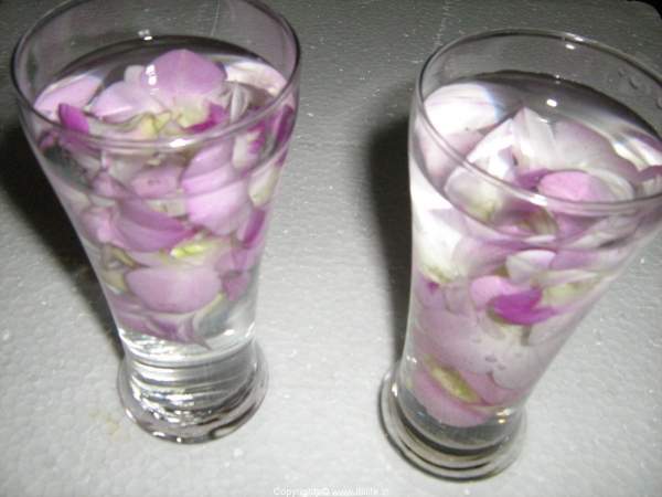 Flowers in Glass Candles