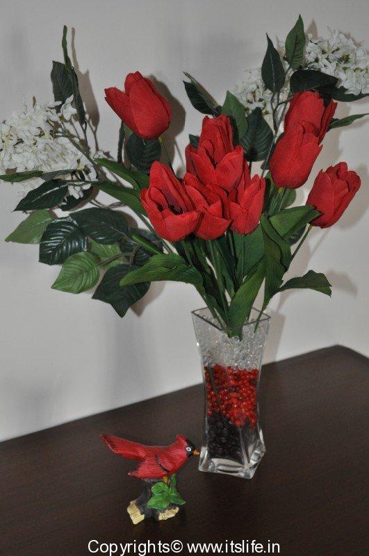 Artificial Flower Arrangement Hobby Ideas Tulips