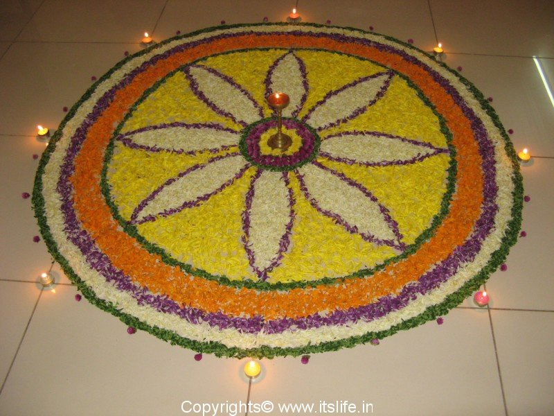 Pookalam How To Make Pookalam Onam Rangoli Kolam