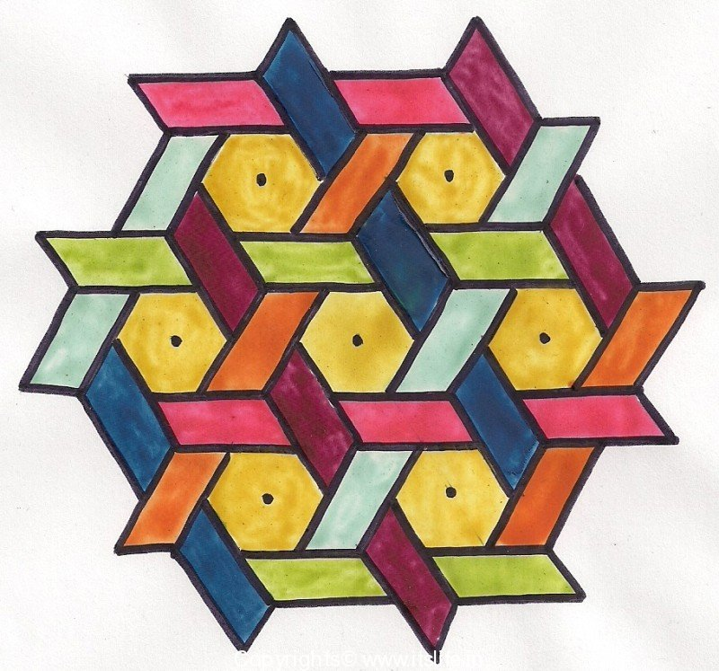 rangoli with 11 dots.