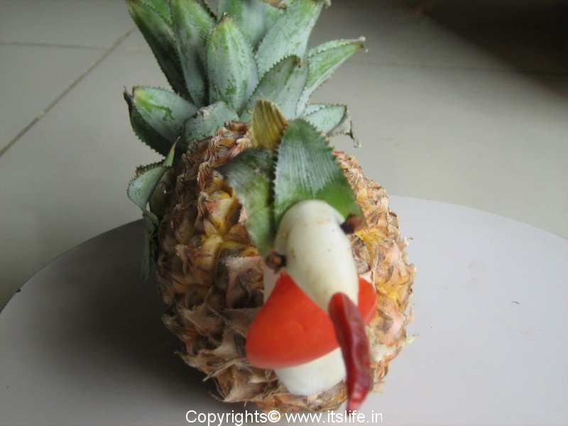 Turkey Fruit Carving Do It Yourself Pineapple Carving