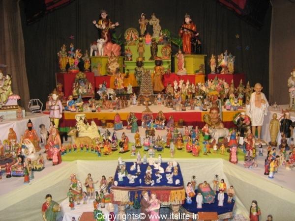Dolls Arrangement during Dasara Festival