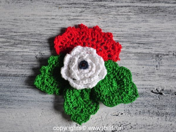 Indian flag colors crochet