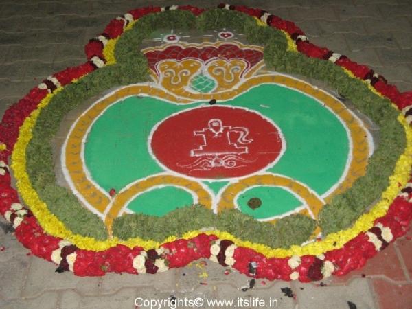 Nagara Panchami Rangoli