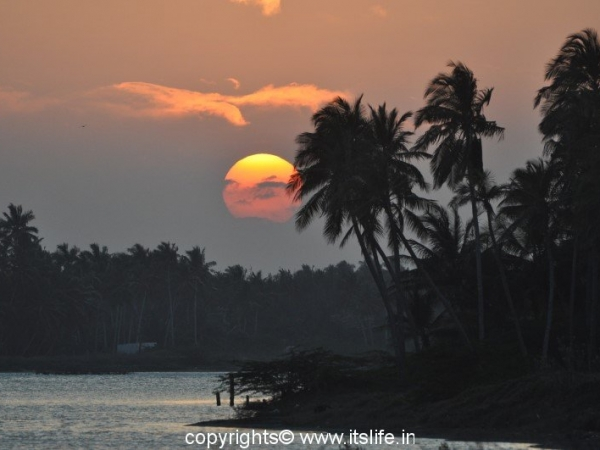 Sunset at Pondicherry