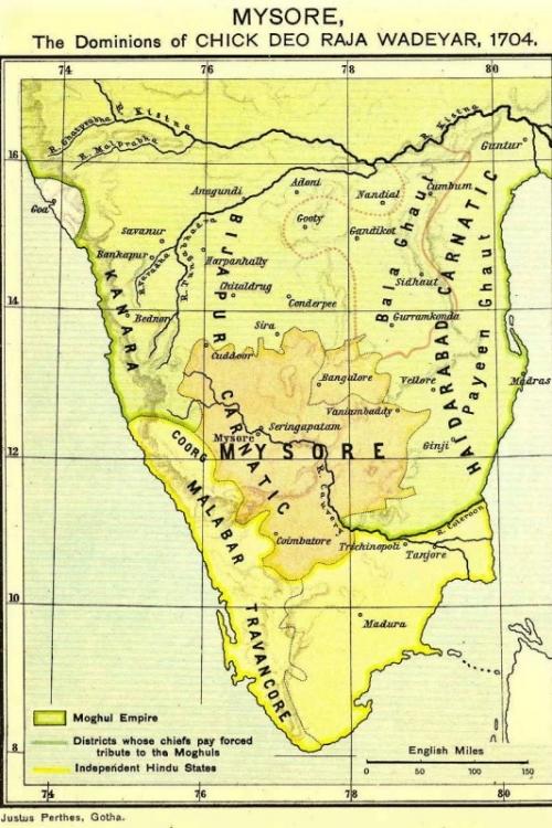 Mysore State Map
