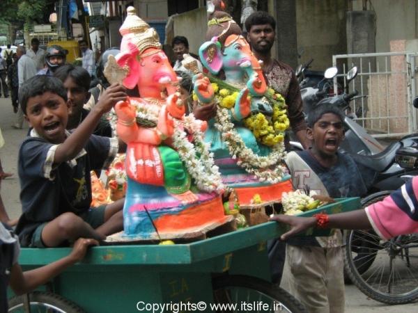 Ganesha Idol Visarjane