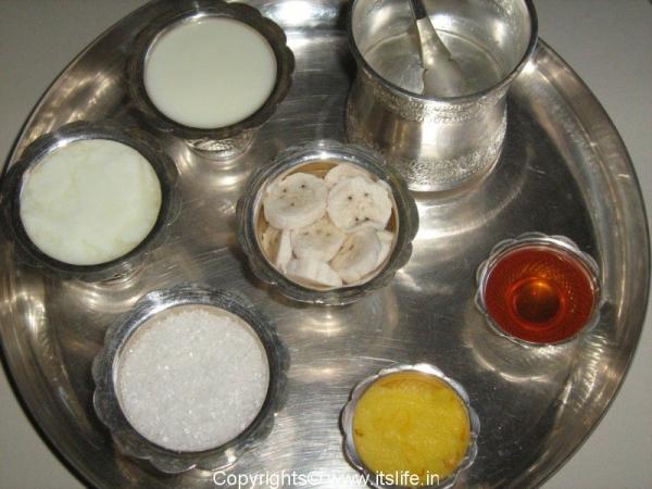 Panchamrutha Ingredients