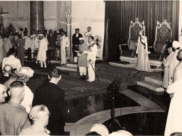 Swearing-in ceremony of first Indian President