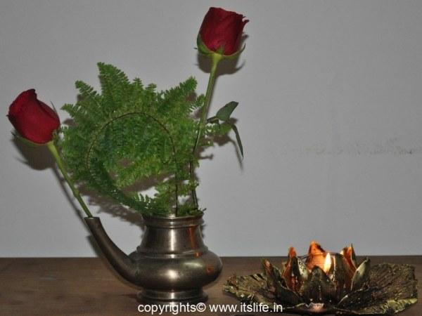 Flower and light arrangement
