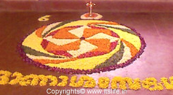 Pookalam during Onam