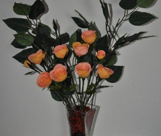 Crepe rose arrangement crepe paper roses hobby craft crepe rose arrangement mightylinksfo