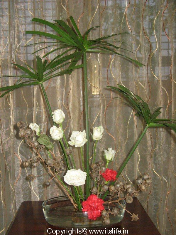 Umbrella flower arrangement for Do it yourself flower arrangements