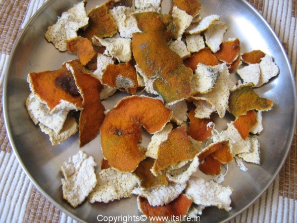 Dry Orange Peels