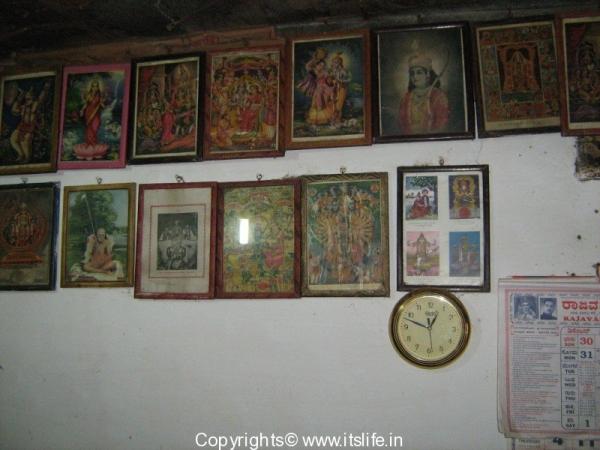 Photos on walls