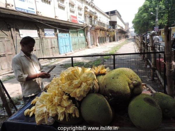 Jackfruit Vendor in Mysore