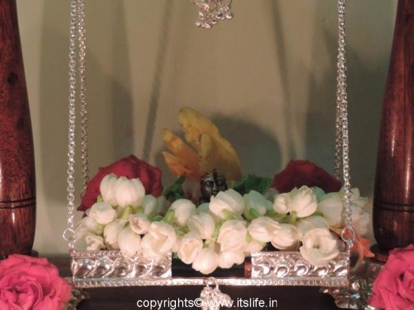 Lord Krishna is cradle