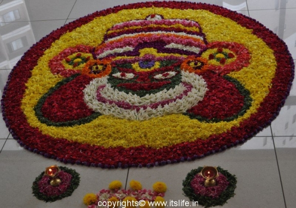 Onam Floral Carpet - Pookalam