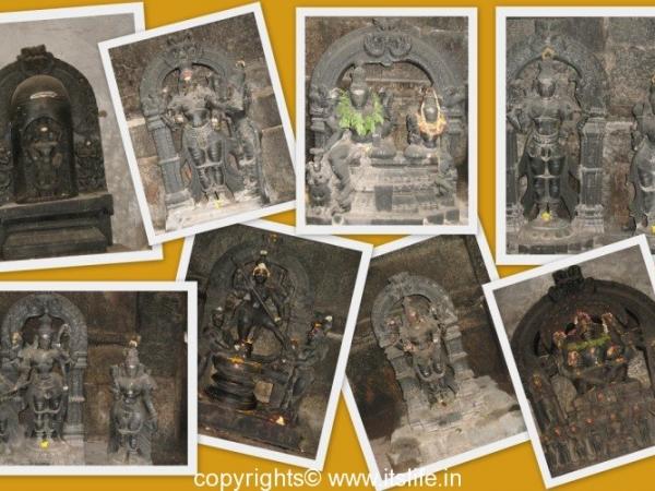 Lord Shiva Statues in Nanjanagud Temple
