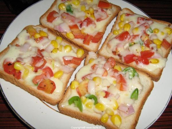 Vegetable Cheese Toast