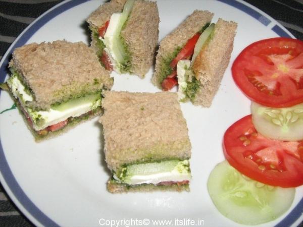 Sandwich Chutney Paneer