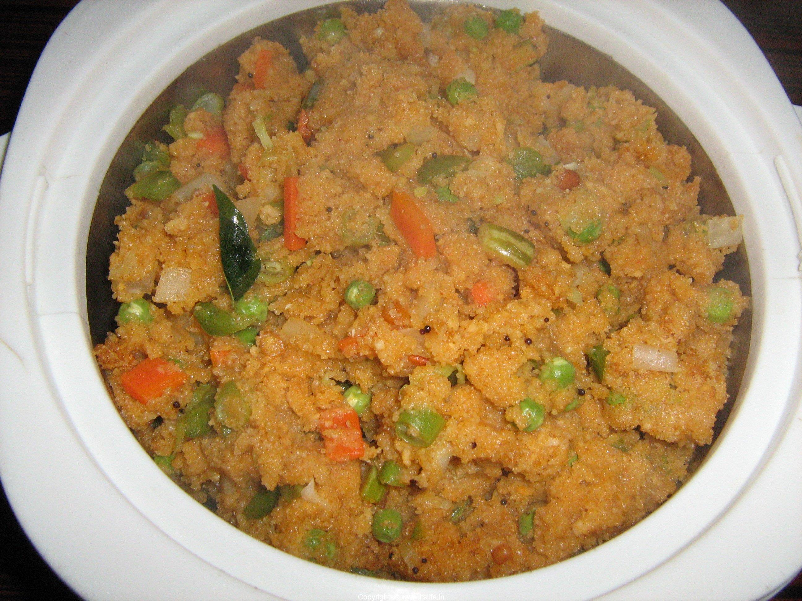 Recipe Breakfast Rava Vegetable