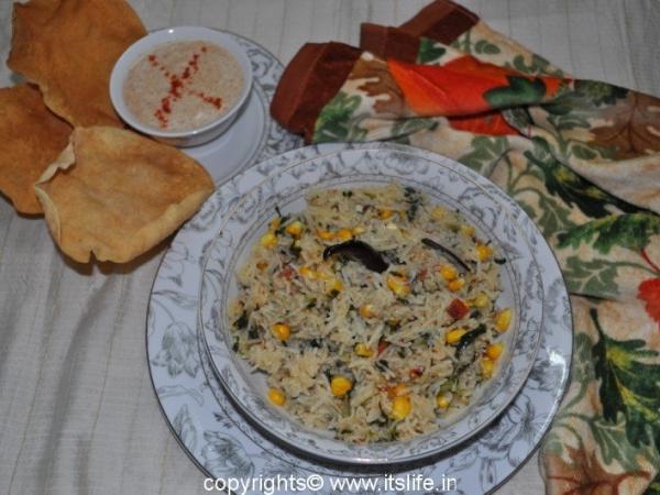 Corn and Methi Pulao