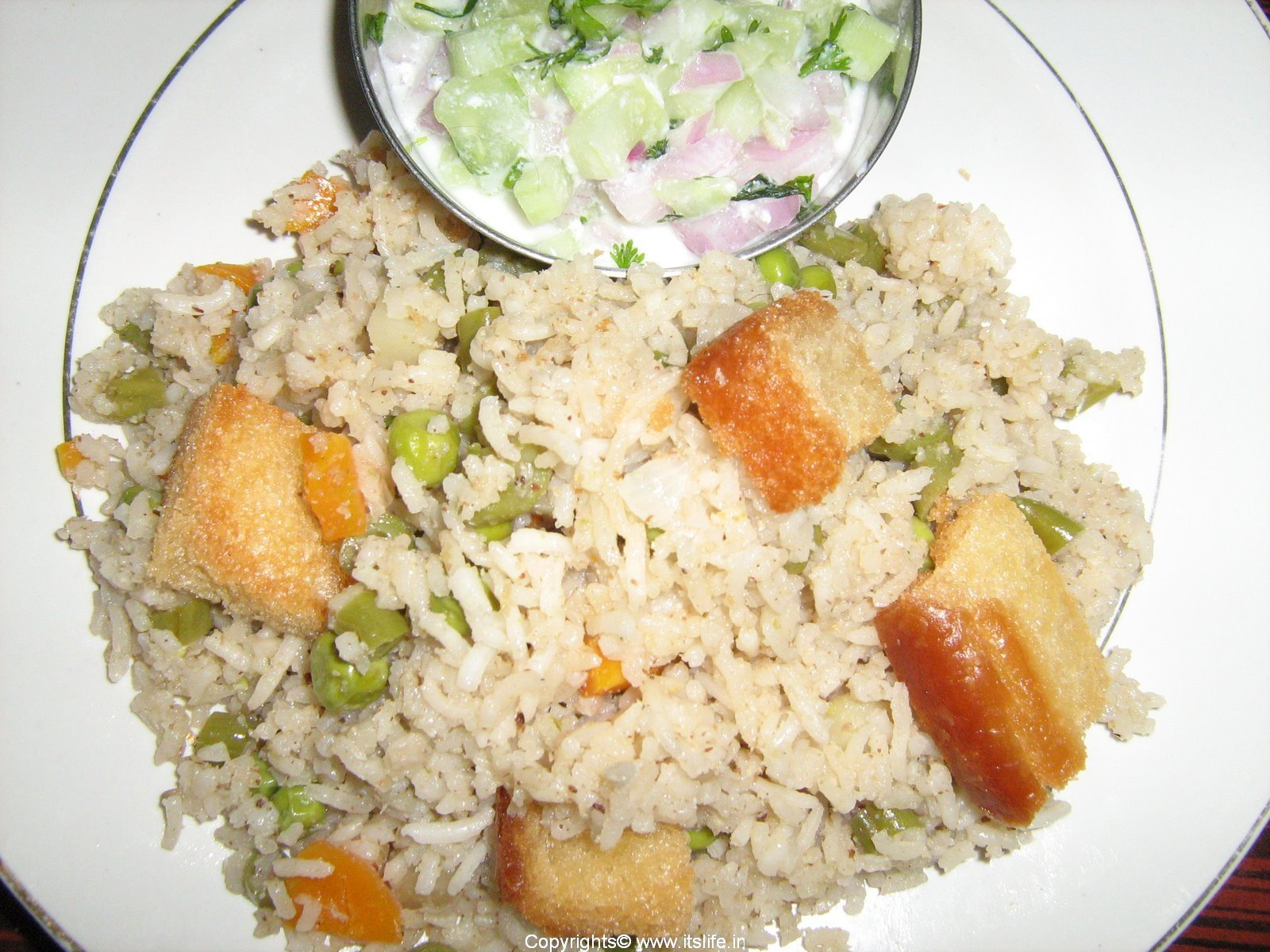 South Indian Vegetable Pulao | itslife.in