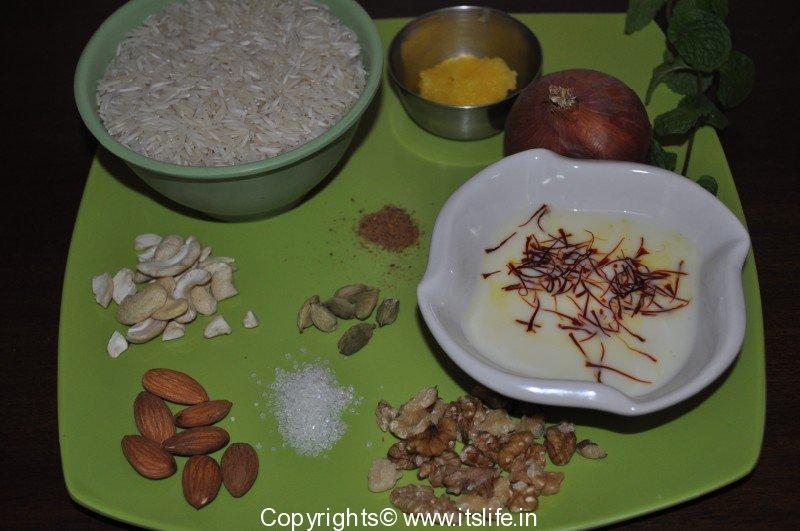 Zafrani pulao recipe saffron rice recipe awadhi for Awadhi cuisine vegetarian