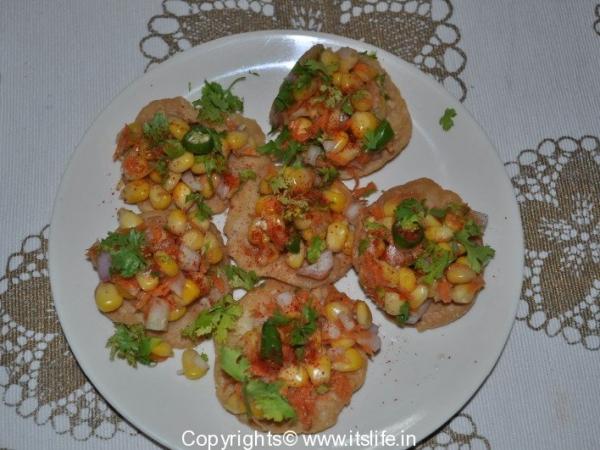 Sweet Corn Papdi Chaat
