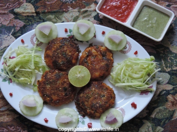 Baingan and Paneer Tikki