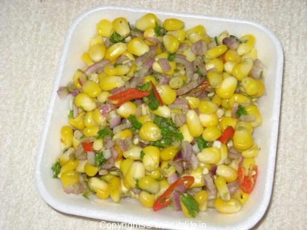 Sweet Corn Mint Chaat