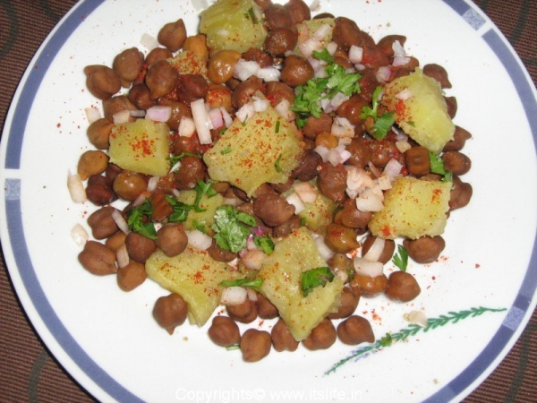 Sweet Potato Channa Chaat