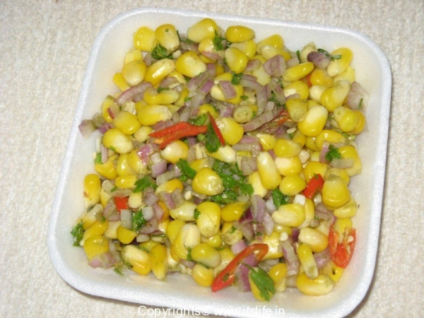 Sweet Corn Mint Chaat