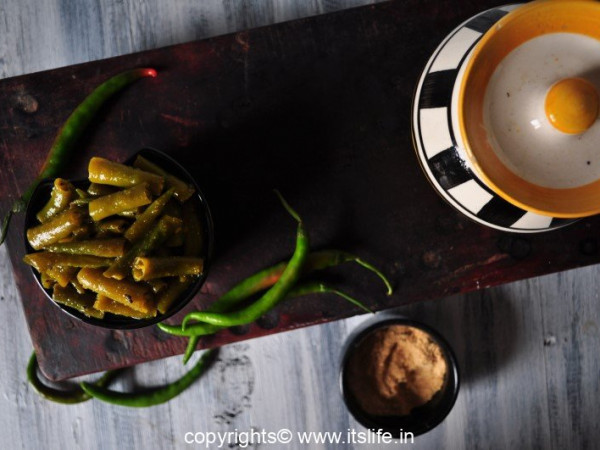 Green Chilies Pickle