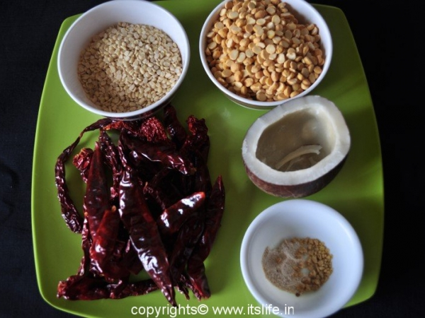 Chutney Powder Ingredients