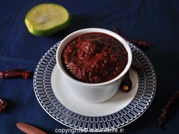 Adangai Uppinkai - Mango Pickle Udupi Style