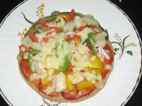 Mint Tomato Pizza