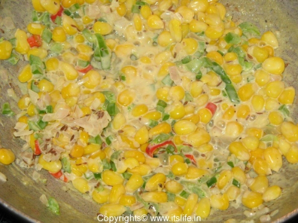 Sweet Corn Cheese Topping