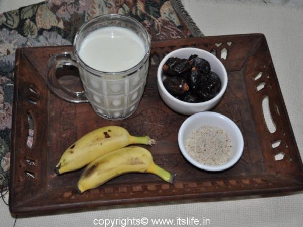 Date and Banana Milkshake